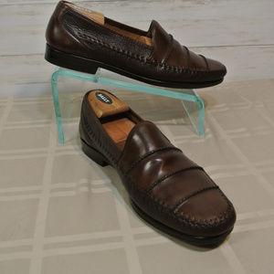 """MEZLAN """"SPYDER"""" SPAIN Sz 12 M Brown Leather Loafer"""